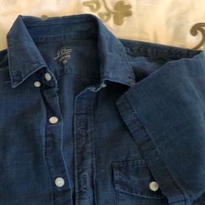 J. Crew XS cotton denim short sleeve Shirt
